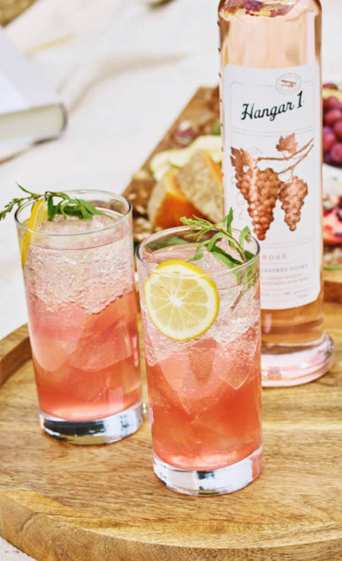 Springtime rose with Hangar 1 rose vodka