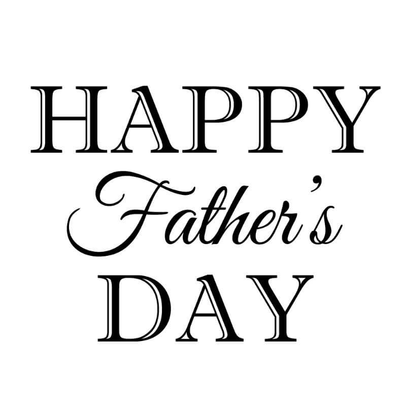 Engraving design 4 'Happy Father's Day'