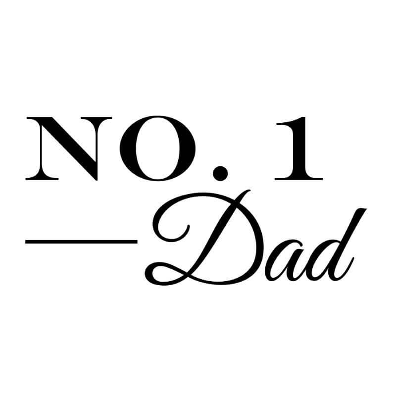Engraving design 6 'No. 1 Dad'