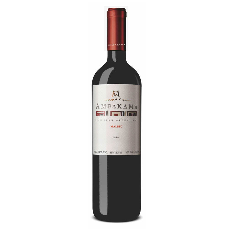 Bottle of Ampakama Malbec