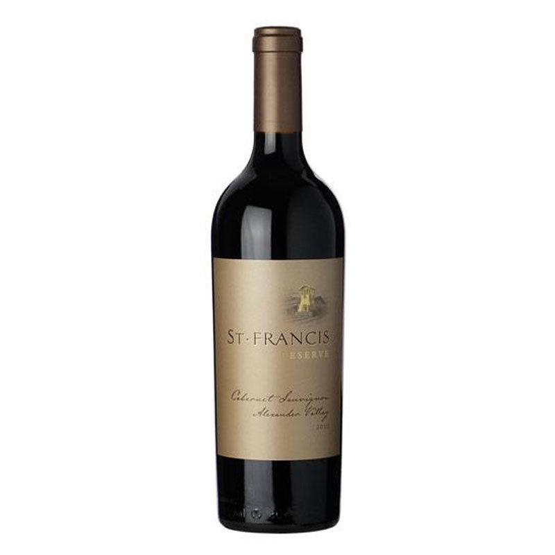 Bottle of St. Francis Reserve Cabernet Sauvignon Alexander Valley