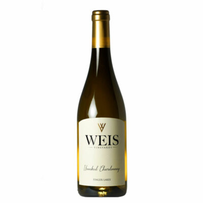 Bottle of Weis Unoaked Chardonnay