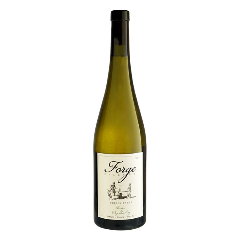 Bottle of Forge Cellars Dry Riesling