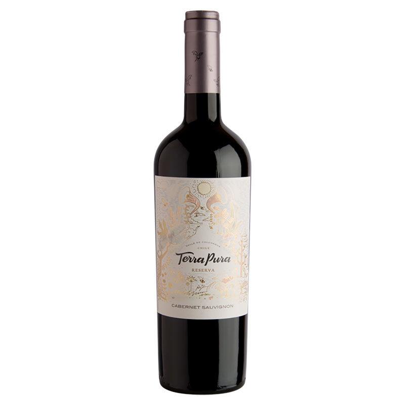 Bottle of Terra Pura Reserva Cabernet Sauvignon