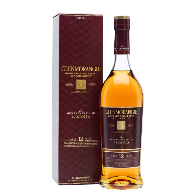 Bottle of Glenmorangie The LaSanta 12yr