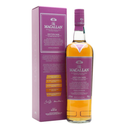 Bottle and case of MaCallan Edition No. 5