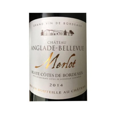 Bottle of Chateau Anglade Bellevue Merlot