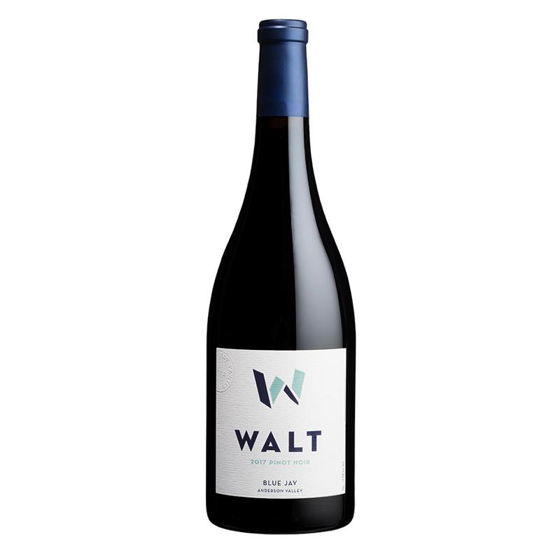 Bottle of Walt Blue Jay Pinot Noir